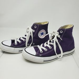 Converse Purple High Top Shoes